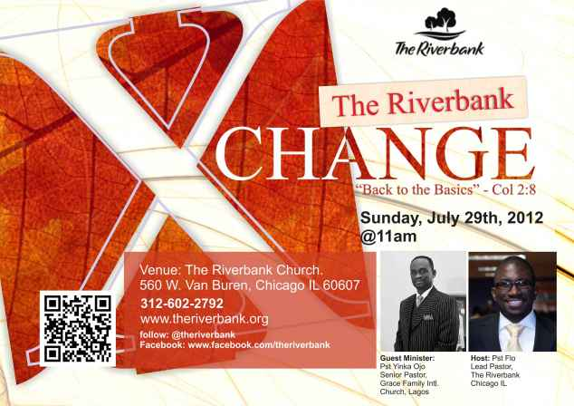 The Riverbank X-Change - July 29th